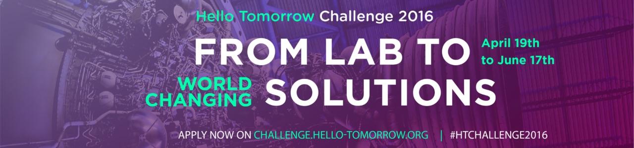 2016 Hello Tomorrow Challenge