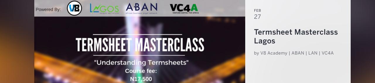 Term sheet Masterclass Lagos – Feb 2018