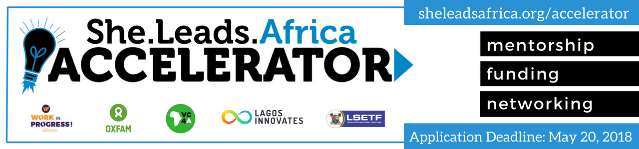 She Leads Africa Accelerator 2018 Info Sessions