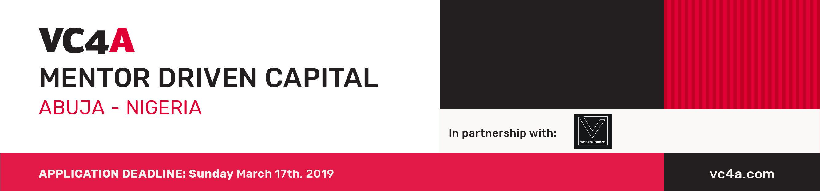 Mentor Driven Capital program Abuja 2019 – Call for mentors