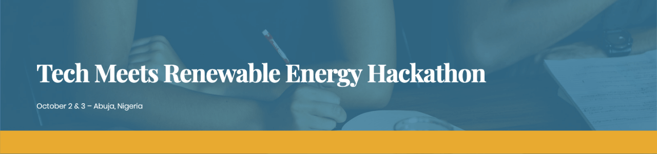 Tech Meets Renewable Energy Hackathon