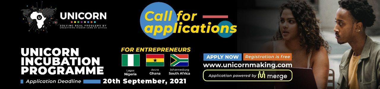 Unicorn Incubation Programme for Entrepreneurs  2021