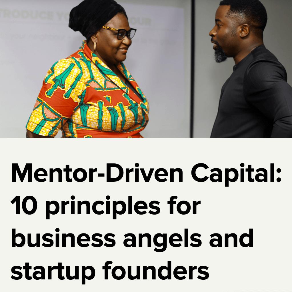 mentor driven capital principles vc4a